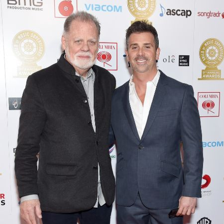 Alex hackford with his father