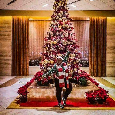 Alexandria Williams celebrating christmas