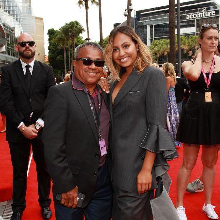 Jessica Mauboy and her father Ferdy Mauboy