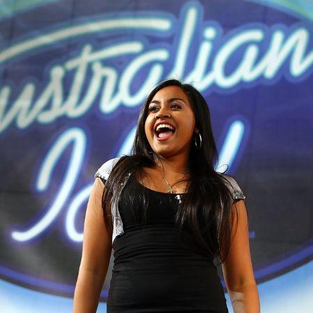 Jessica Mauboy performs during an Australian Idol Concert