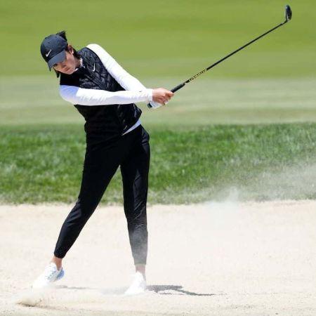 Michelle Wie Golfing