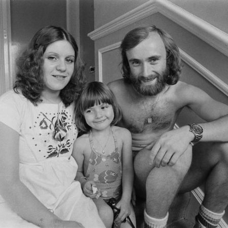 Younger Joely Collins with her parents