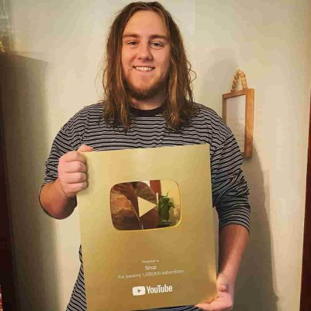 Sniping with his YouTube award