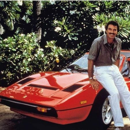 Tom Selleck with his car