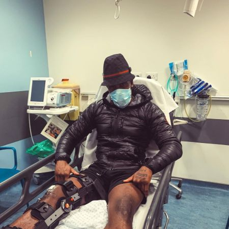 Bugzy at hospital, source Instagram