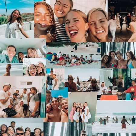 Janatiktoks with her friends, source Instagram