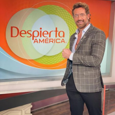 Gabriel appearing as a guest for the second day in a row; Despierta AMERICA, source Instagram