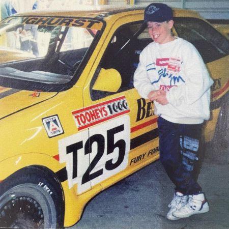 One of the youngest photos of Grants racing in the 1987-1989 era of motorsport, source Instagram grantdenyer