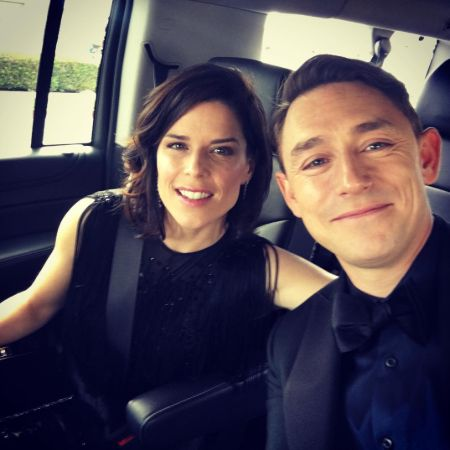 Neve Champbell headed to the Emmy's with her man to celebrate House of Cards nomination. #emmys2017 #houseofcard, source Instagram