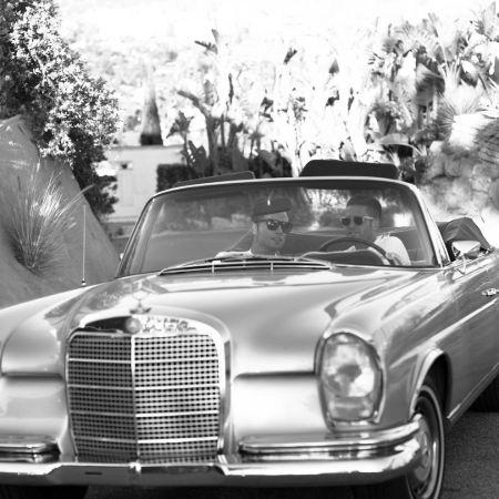 Bobby and Josh on their 1960 model Mercedez, source Instagram