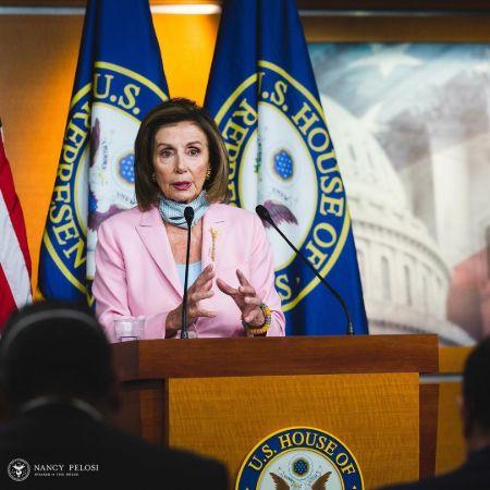 Nancy Pelosi giving speech, source Instagram
