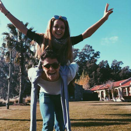 Ana with her boyfriend Michael Rhonda, source Instagram