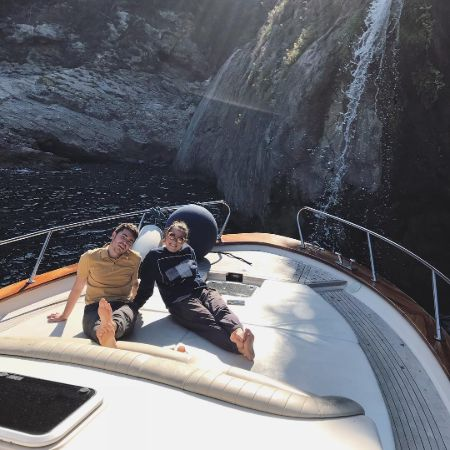 Noah is boating in Italy Amalfi Coast with his friend, source Instagram