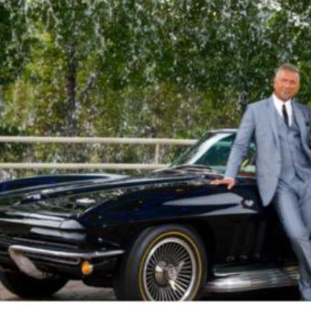 Larry with his 66 corvette and Teflon suit, source Instagram