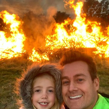 Denyer with daughter