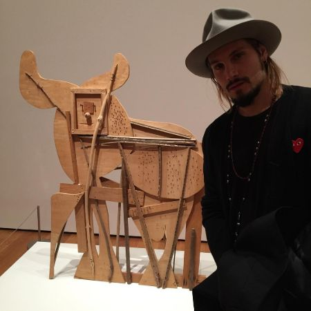 Marco Perego  with his art