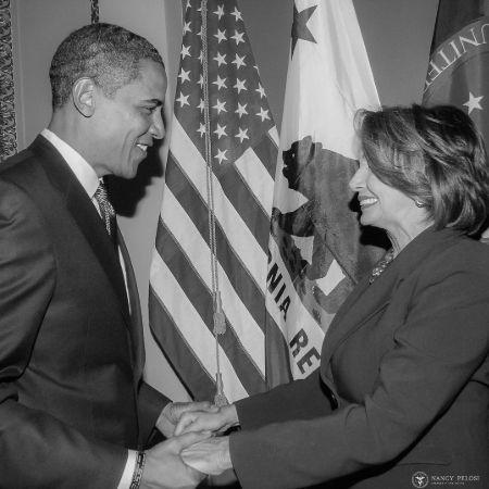 Nancy with Obama