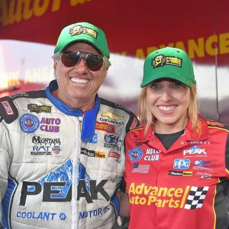 John Force with his daughter