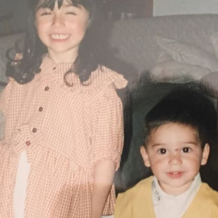 Younger Gabriella and her brother