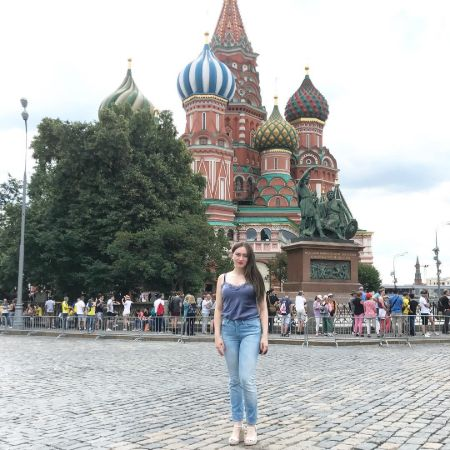 Anne in Saint Basil's Cathedral, source Instagram