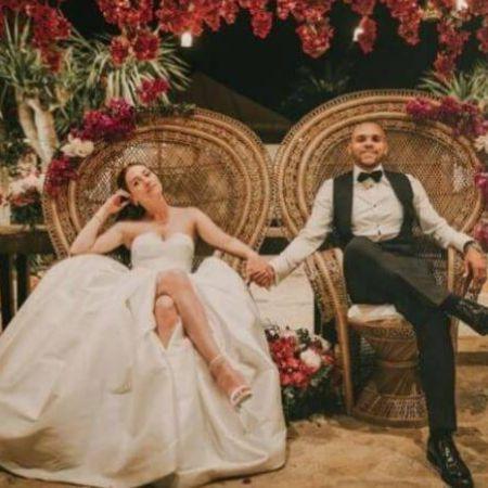 Anne-Laure Louis with her husband Martin Braithwaite at their wedding, source Instagram (1)