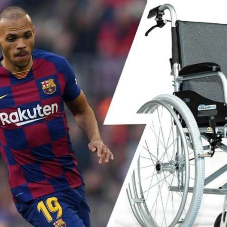 Braithwaite was in a wheelchair for two years.