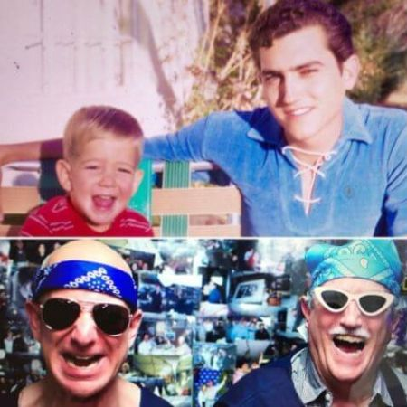 Miguel Bezos with his son Jeff Bezos before and now, source Vergewiki (1)